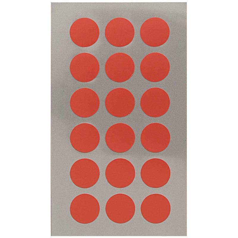 72x Rode ronde sticker etiketten 15 mm