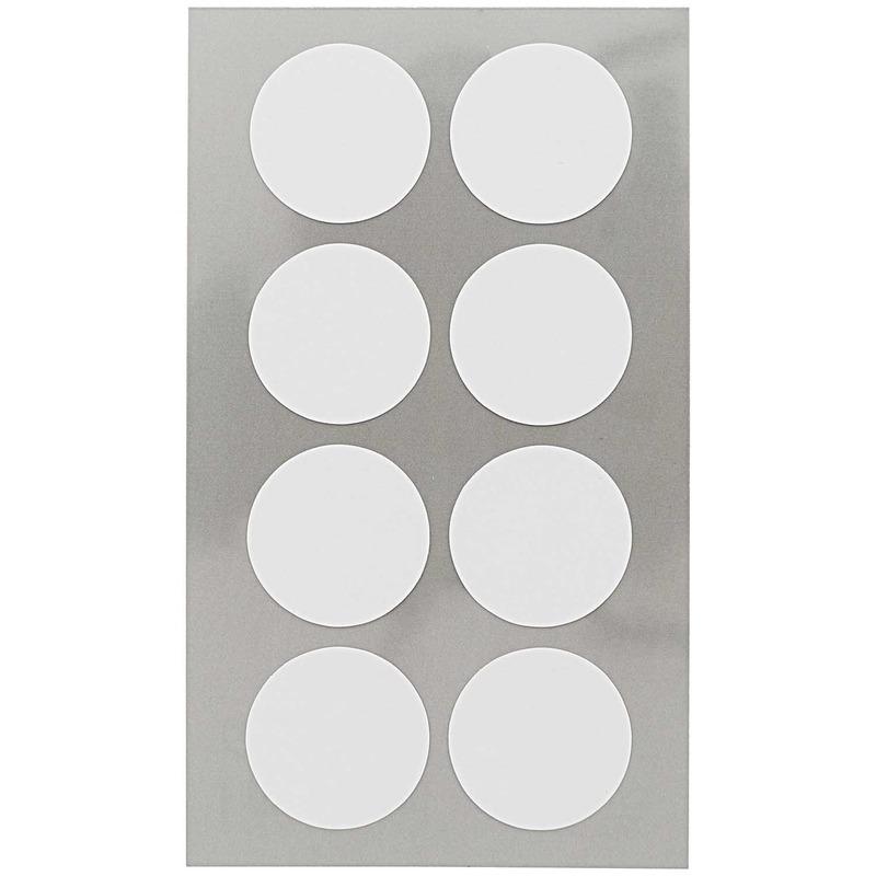 96x Witte ronde sticker etiketten 25 mm