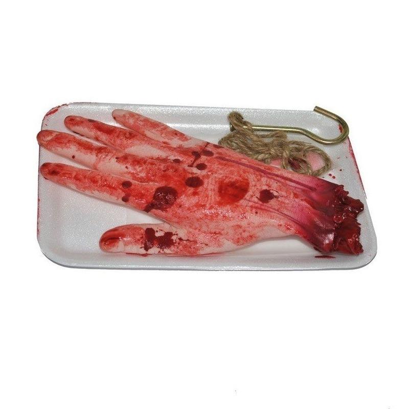 Afgehakte horror hand bloederig