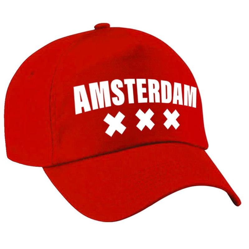 Amsterdam pet /cap rood volwassenen