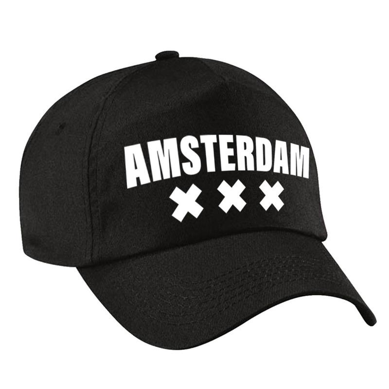 Amsterdam pet /cap zwart volwassenen
