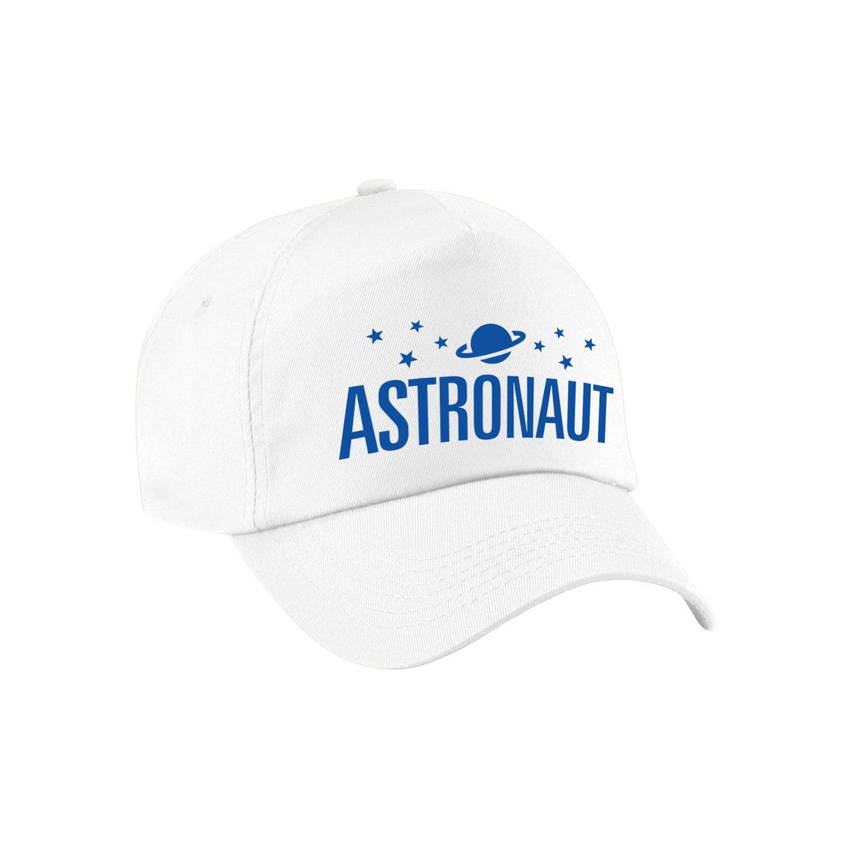 Astronaut verkleed pet wit kinderen