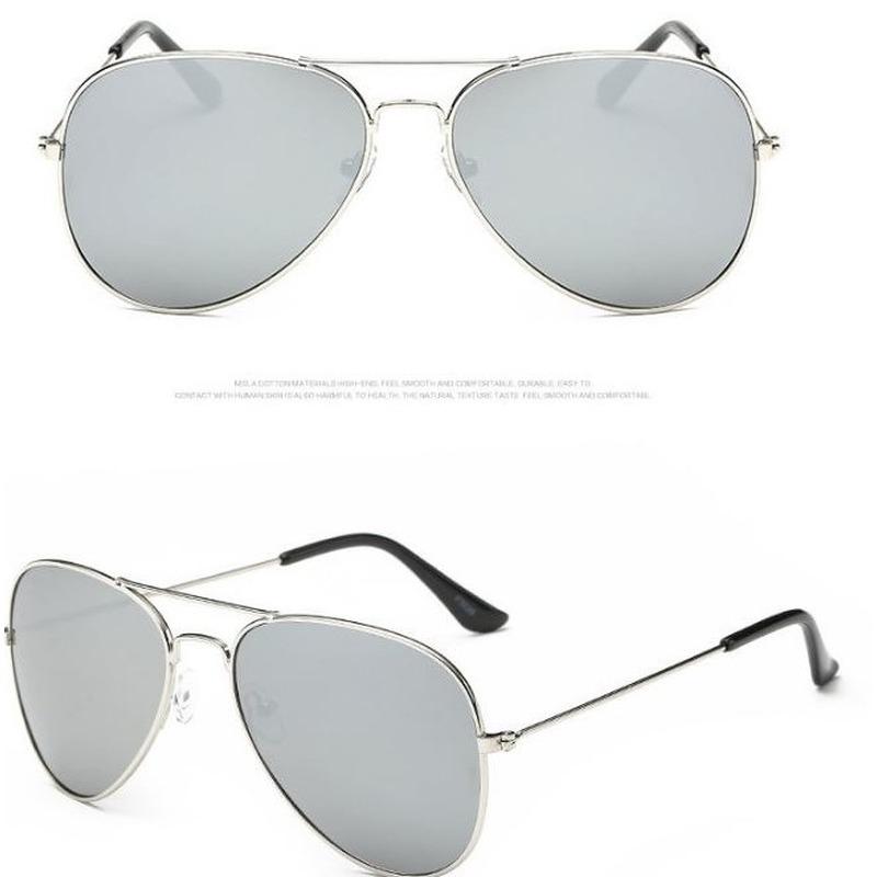 Aviator zonnebril zilver met lichte glazen voor volwassenen