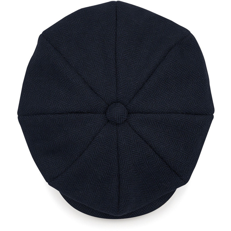 Bakkerspet - flatcap dames blauw navy