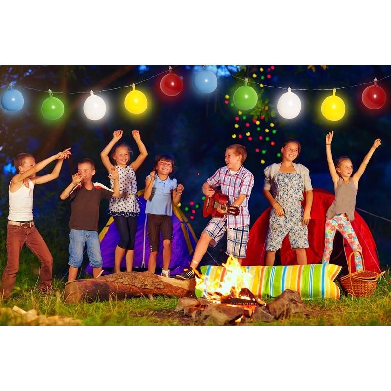 Ballonnen slinger met gekleurde LED verlichting