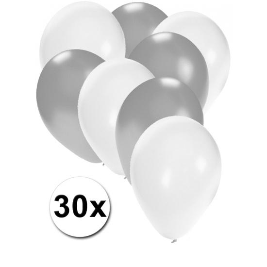 Ballonnetjes zilver en wit