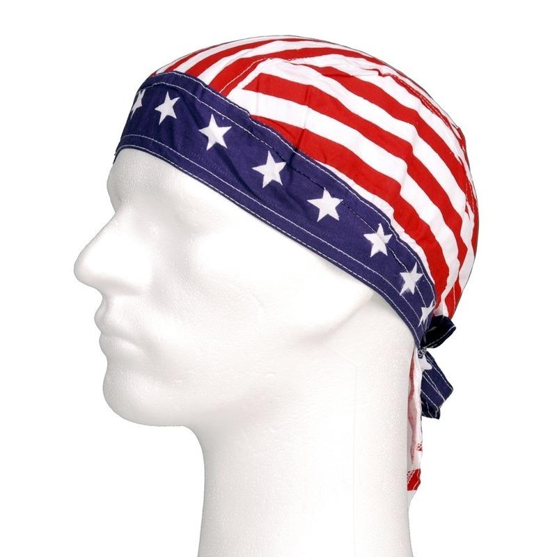 Bandana cap met Amerikaanse vlag print