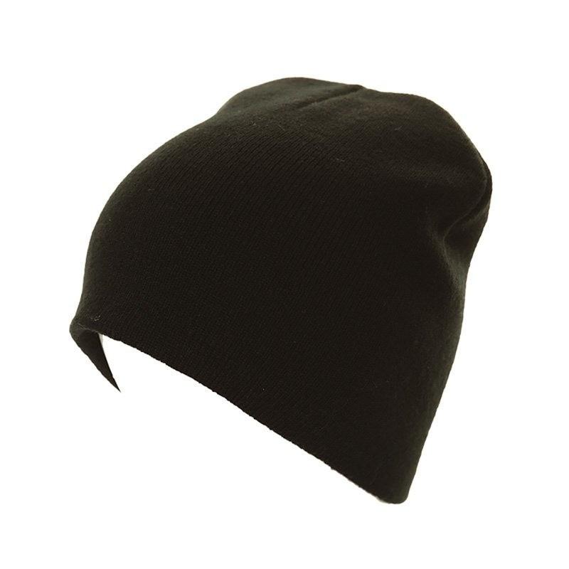 Basic winter muts/beanie zwart voor volwassenen