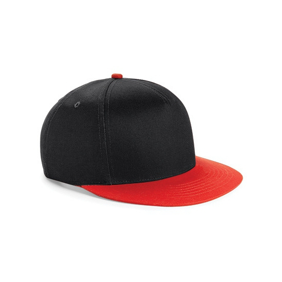 Beechfield kindercap zwart/rood