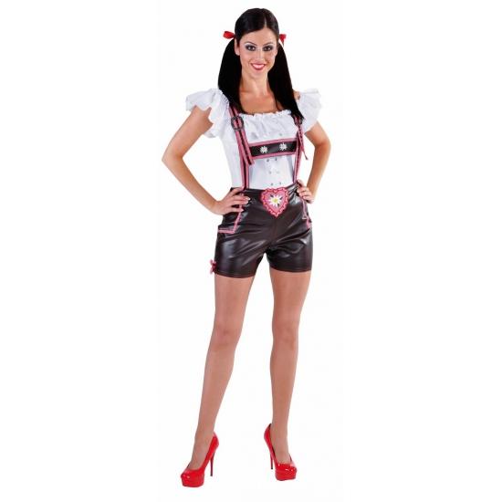 Beieren lederlook hotpants voor dames