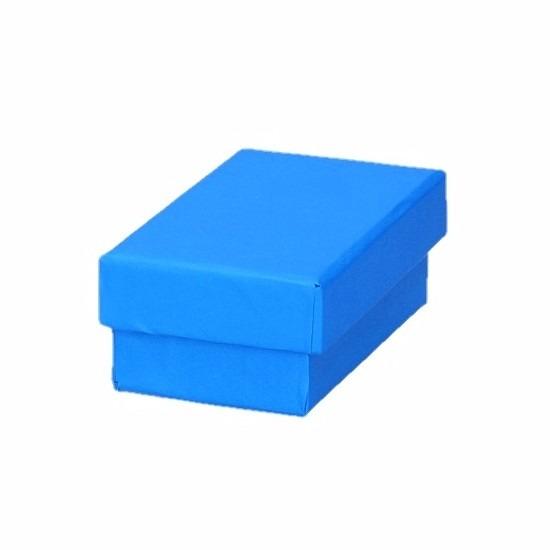Blauw cadeaudoosje 8 cm rechthoekig