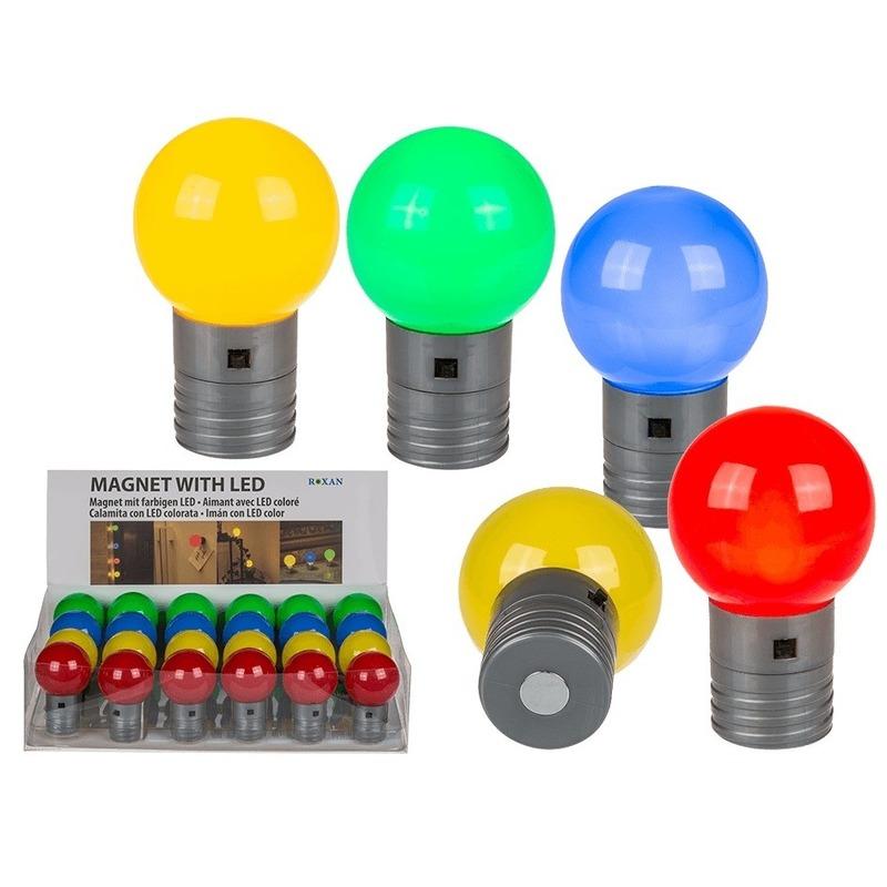 Blauw magneet LED lampje 4,5 cm