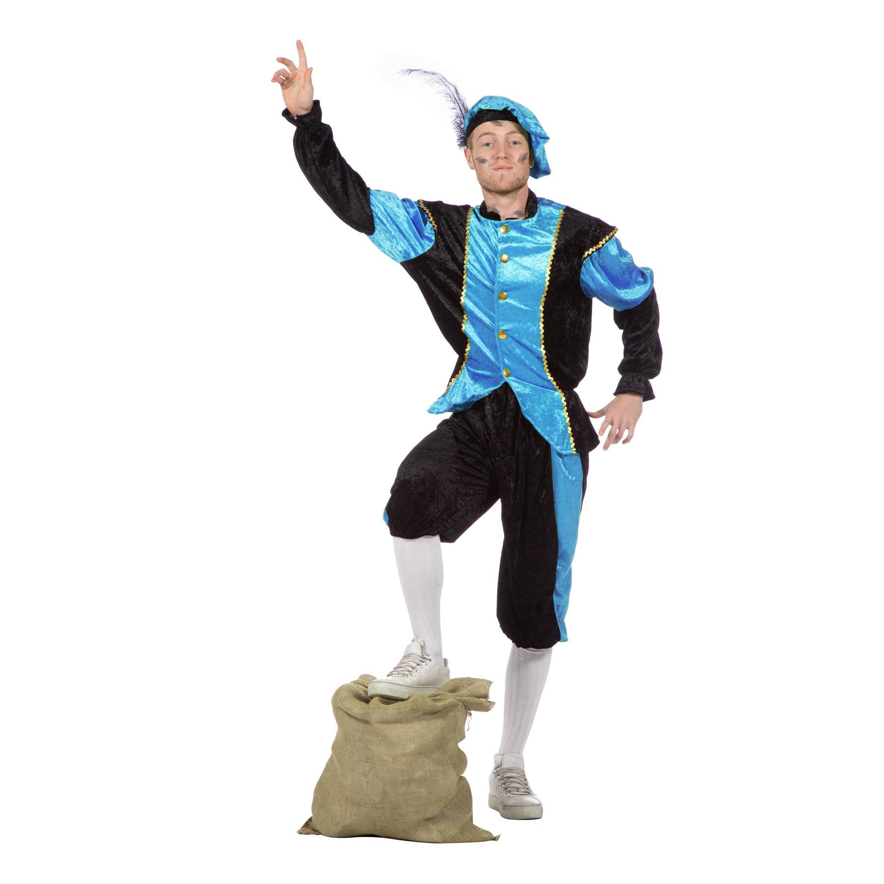 Merkloos Blauw Pieten kostuum budget