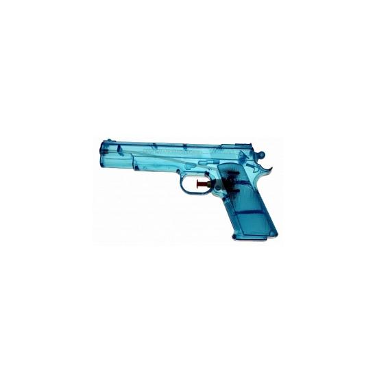 Blauw speelgoed waterpistool 20 cm
