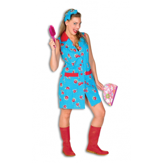 Blauwe Mien dobbelsteen kostuum