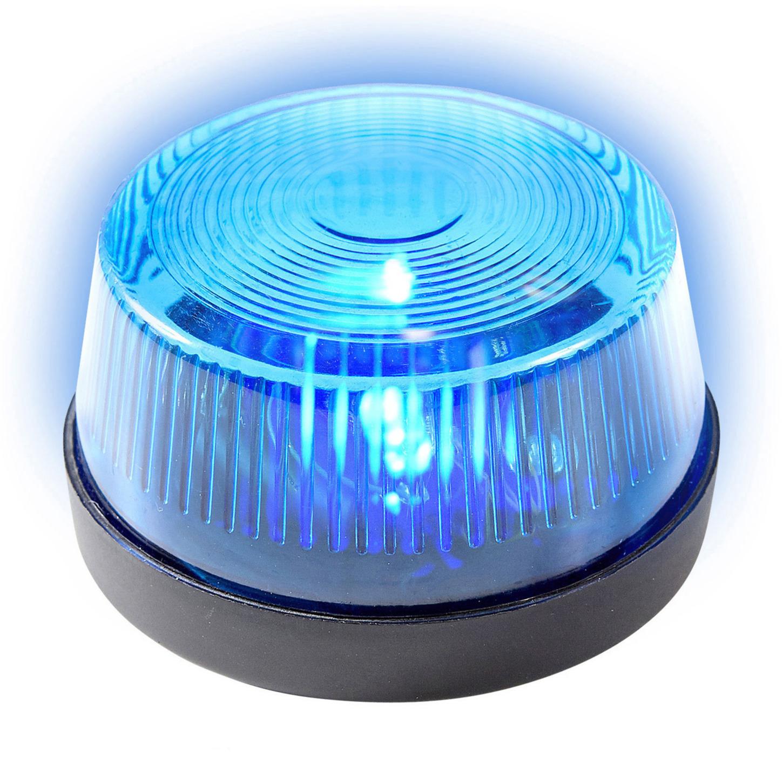 Blauwe politie LED zwaailamp/zwaailicht met sirene 7 cm