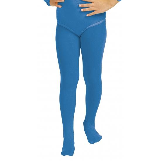 Blauwe verkleed panty/maillot voor meisjes/kinderen