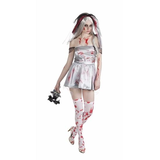 Bloederige bruid dames kostuum