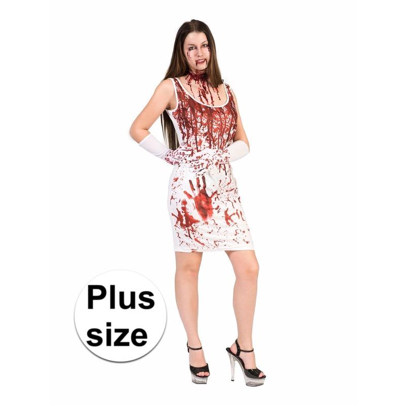 Bloederige jurk voor dames grote maat