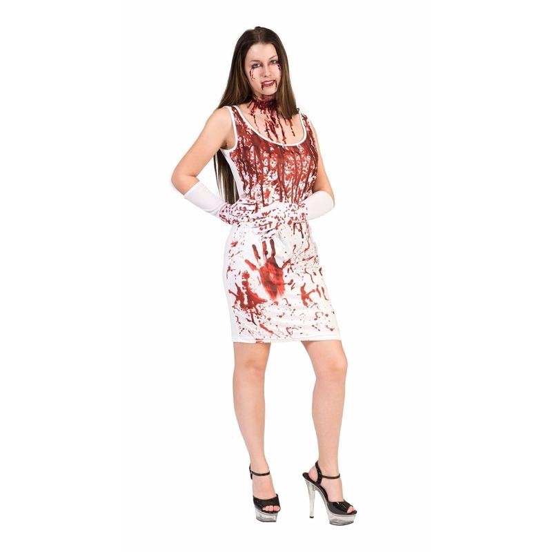 Bloederige jurk voor dames
