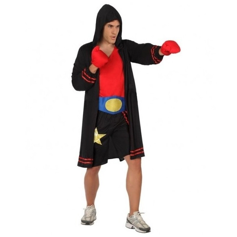 Bokser verkleed pak/kostuum voor heren