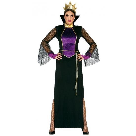 Merkloos Boze koningin kostuum voor dames