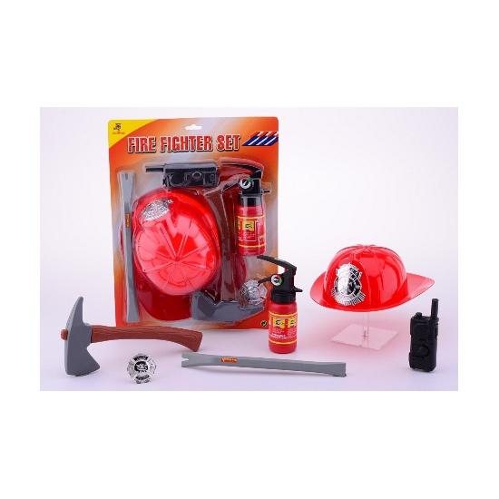 Brandweer accessoires setje