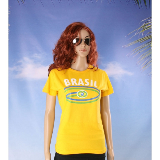Braziliaanse supporter t-shirt voor dames