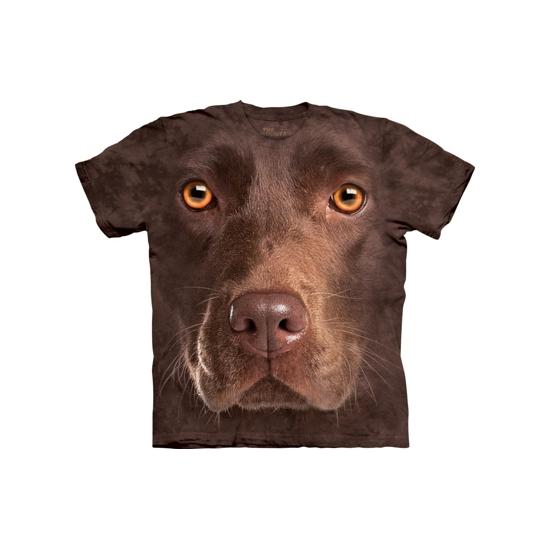 Bruine Labrador T-shirt voor volwassenen