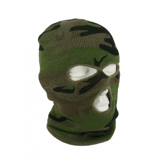 Camouflage Bivakmuts 3 holes