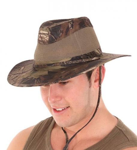 Camouflage hoeden met ventilatie
