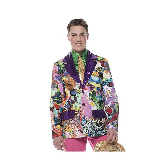 Carnaval colbert paarse print
