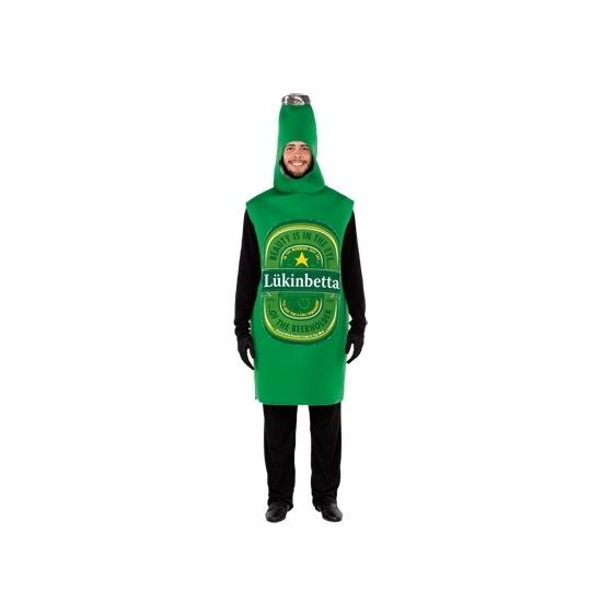 Carnavalskostuum groene bierfles volwassenen