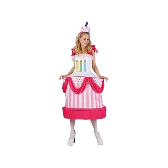 Carnavalskostuum taart dames