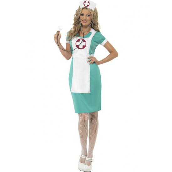 Carnavalskostuum verpleegster met schort