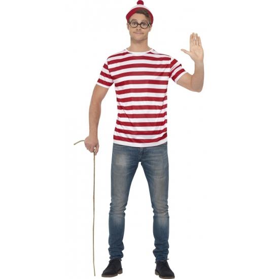 Carnavalskostuum Waar is Wally voor heren