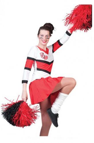 Cheerleaders jurkje met plooirok