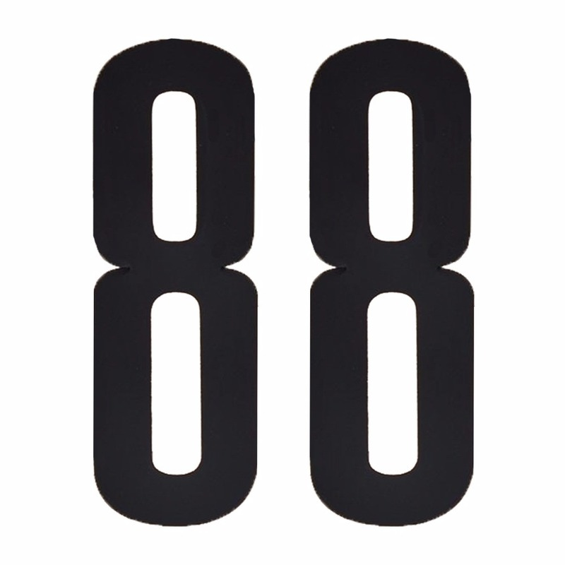 Cijfer sticker 88 zwart 10 cm