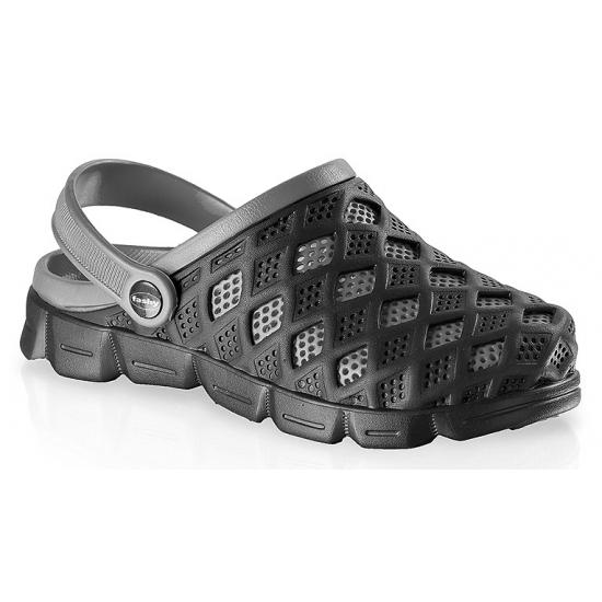 Clogs heren waterschoenen zwart/grijs