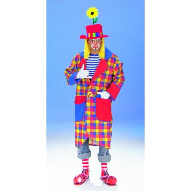 Clownsjas carnavalkleding geruit