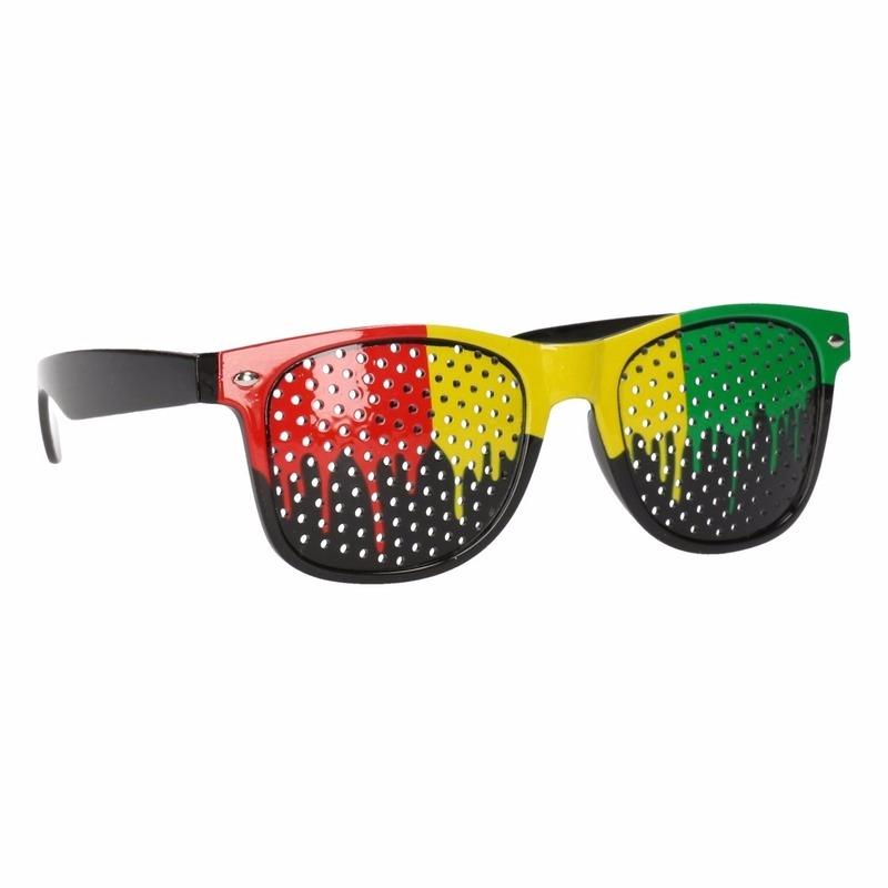 Merkloos Clubmaster zonnebril in Jamaica kleuren