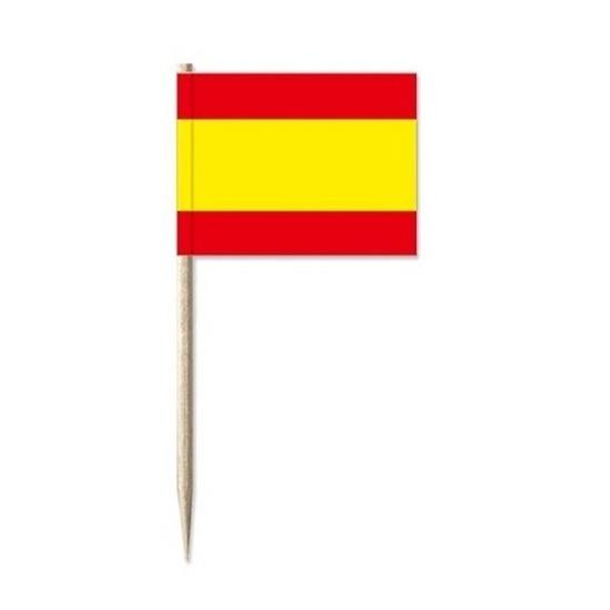 Cocktailprikkers Spanje 50 stuks vlaggetjes