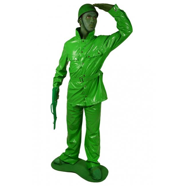 Compleet groen soldaten kostuum