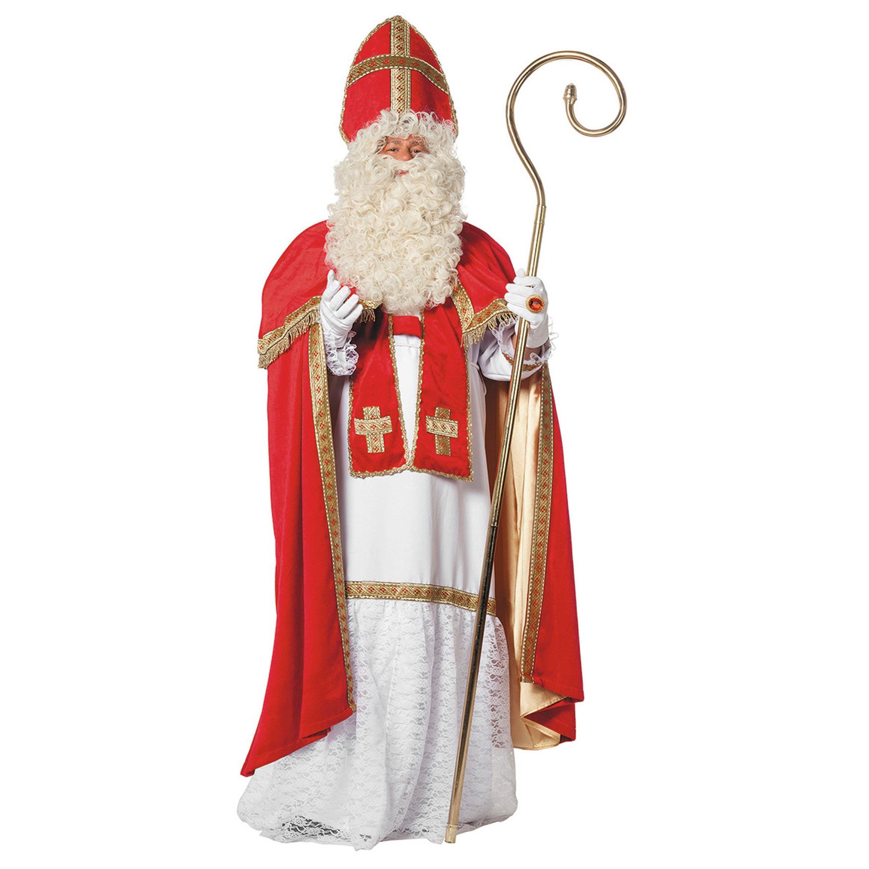 Merkloos Compleet luxe Sinterklaas kostuum/pak voor volwassenen