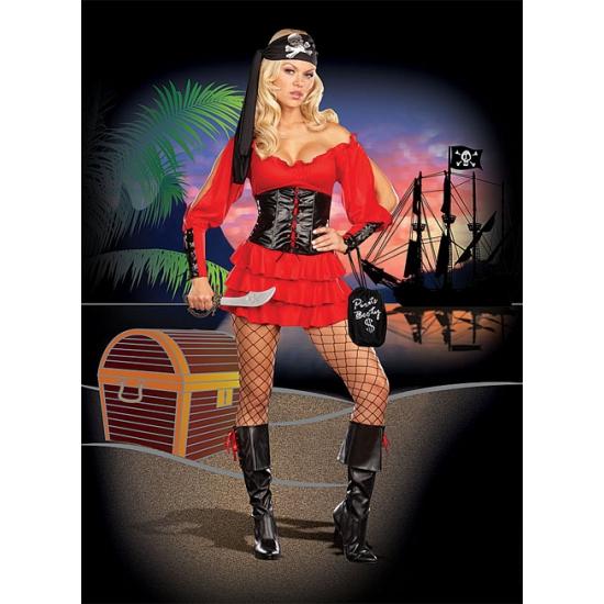 Compleet piraten kostuum dames