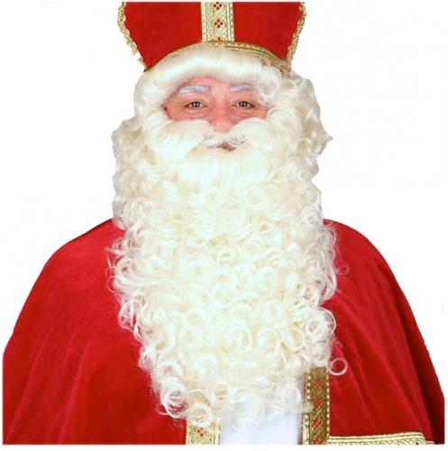 Complete Sinterklaas pruik en baardstel
