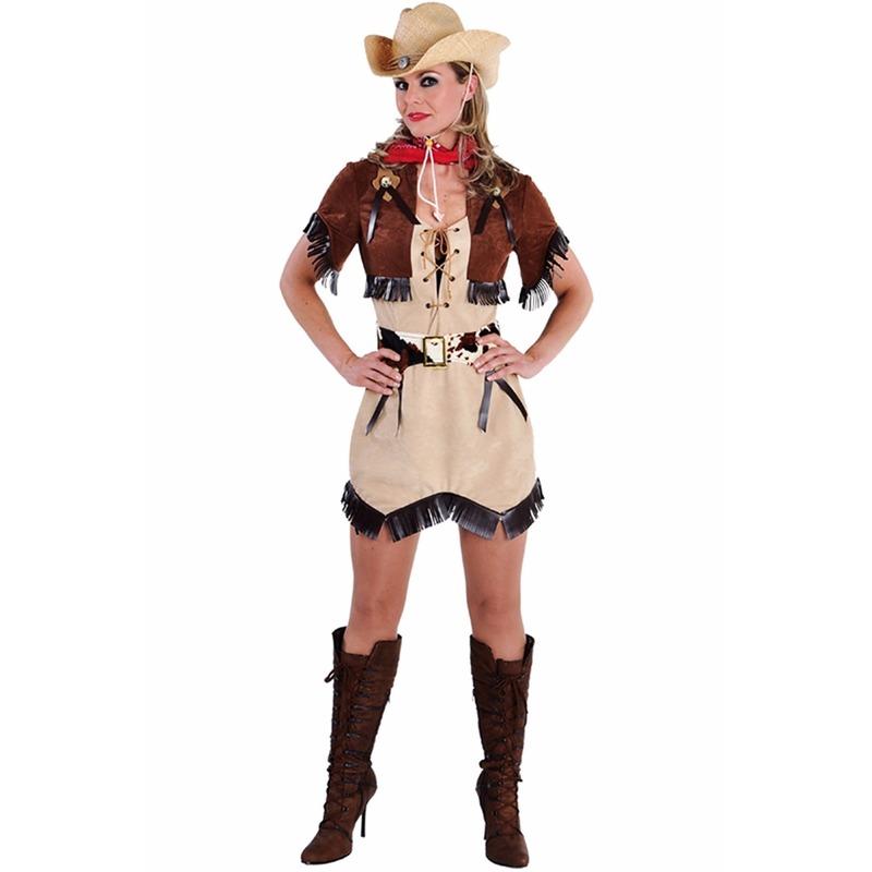 Cowgirl jurkje met bolero voor dames