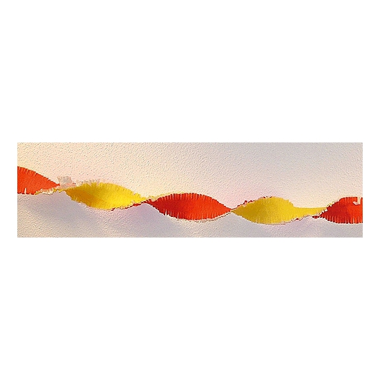 Crepe slinger rood-geel 30 meter