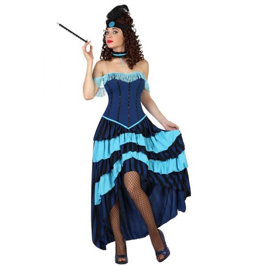Dames carnaval kostuum cabaret jurk