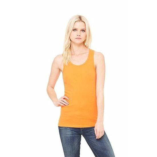 Dames tanktop oranje